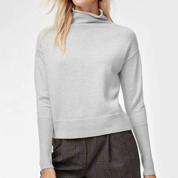 WILFRED Aritzia Grey Cyprie Turtleneck Sweater